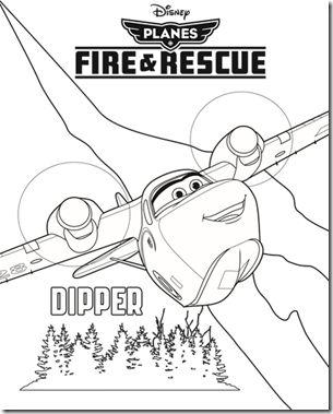Dipper Coloring Sheets Of Planes 2 Fire En Rescue Picture