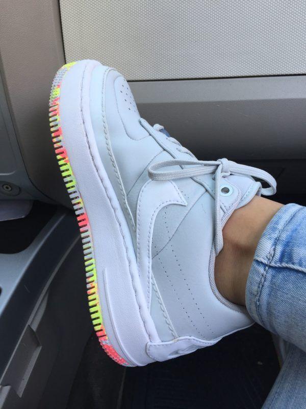 zapatos nike blancos mujer