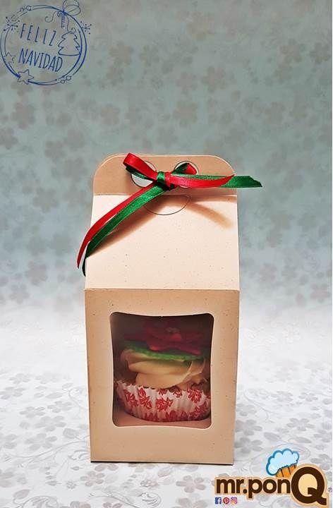 Cupcake individual, para regalar a tus clientes, amigos.