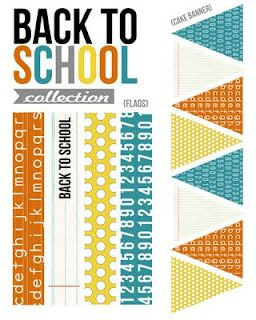 Eighteen25: Back to School Party and Free Printable Banner Back to School Round-up 2012