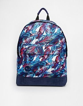 Enlarge Mi-Pac Backpack in Feather Print