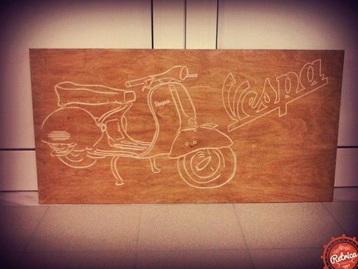 Wood art (vespa)