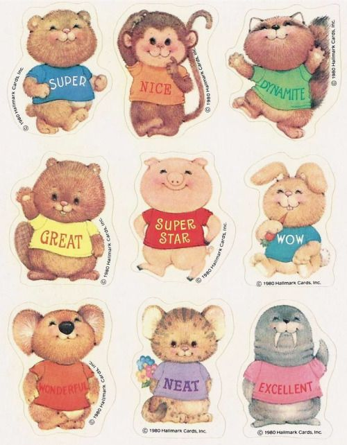 totallyrecalled:  1980 Shirt Tales Stickers