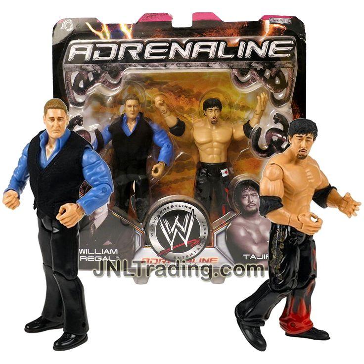 Jakks Pacific Year 2005 World Wrestling Entertainment WWE Adrenaline 2 Pack 7 Inch Tall Figure - WILLIAM REGAL and TAJIRI
