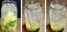 холодный напиток с ананасом