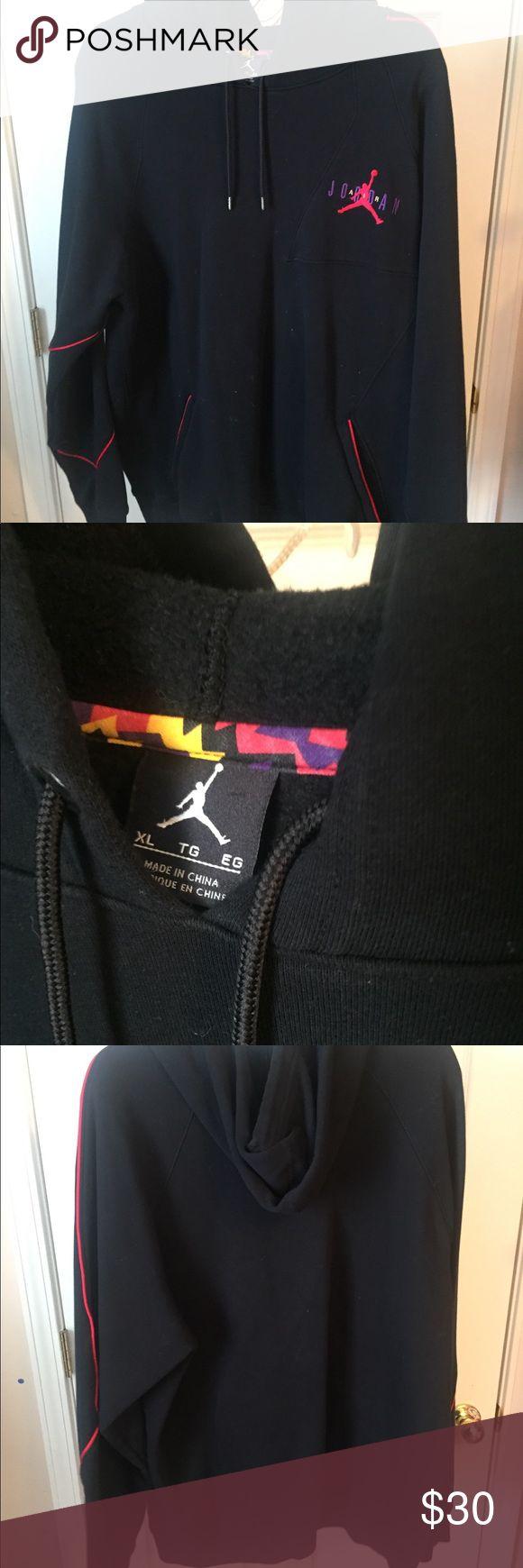 Mens Nike air Jordan hoodie rare Jordan 7 sweater This is a men's Nike air Jordan hoodie based of the design of the Jordan 7 sweater shoes. Size xl. Offer me a price. Jordan Jackets & Coats Performance Jackets