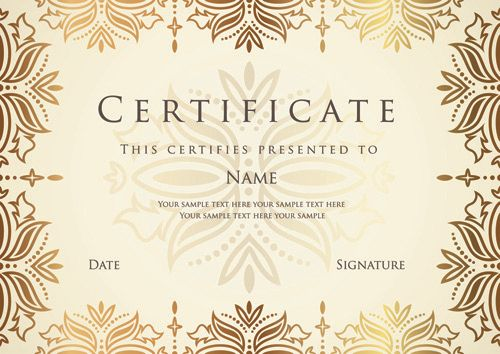 47 best Certificate design images on Pinterest Certificate - certificate designs templates