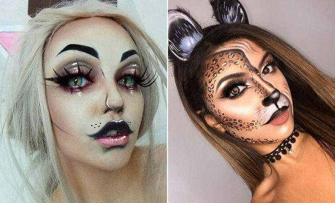 41 Easy Cat Makeup Ideas For Halloween Cat Eye Makeup Simple
