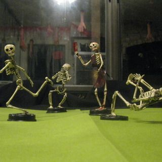 Halloween Trophies: Putting Movement into Skeletons and Mini Zombies! I've been making these for a couple of years, I have way too much fun with them.