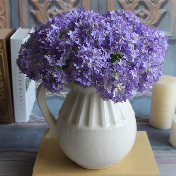 European Fake Silk Flower Artificial Hydrangea Wedding Bridal Home DIY | eBay
