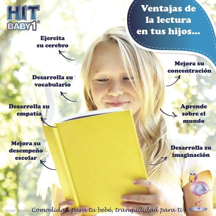 Ventajas de la lectura a temprana edad en tu hijo:  Ejercita su cerebro Mejora su concentración Tu hijo aprende sobre el mundo http://bloghitbabyone.com/2015/03/12/ventajas-de-la-lectura-a-temprana-edad-en-tu-hijo/ #niños #niñas #lectura #leer #educación