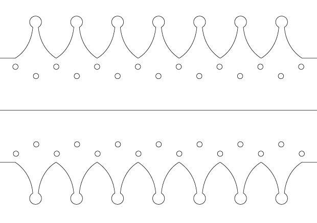 fabriquer une couronne des rois mod le couronne des rois dentelle m me et bricolage. Black Bedroom Furniture Sets. Home Design Ideas