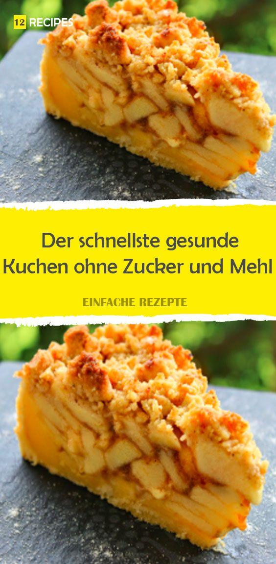 El pastel saludable más rápido sin azúcar y harina.   – Kuchen