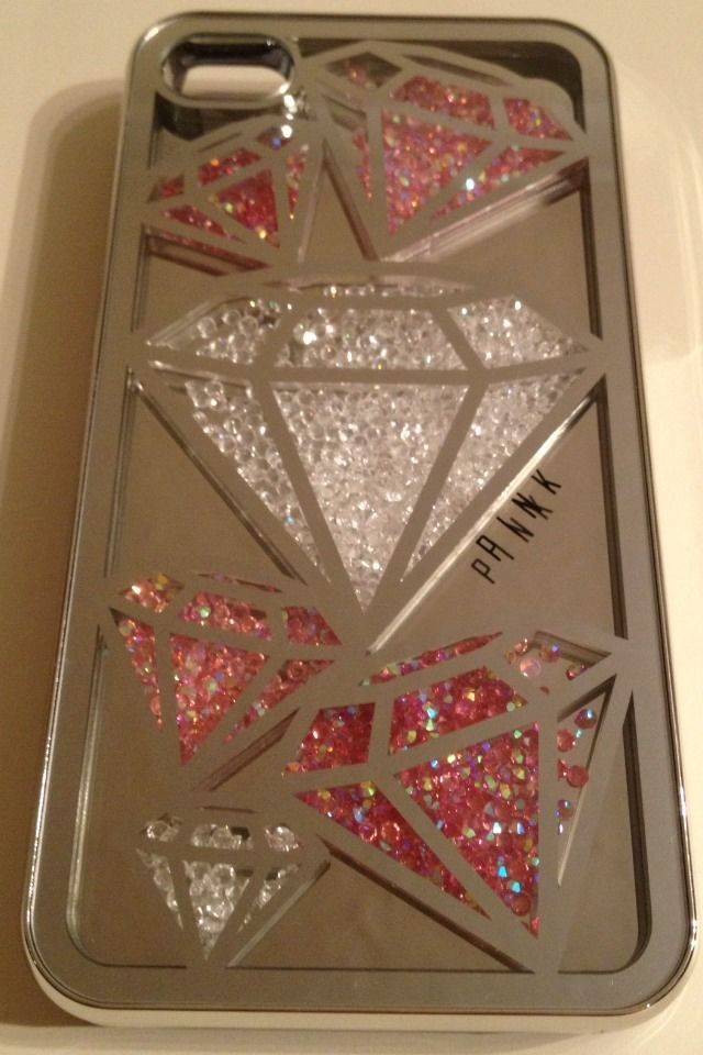 PINK by Victorias Secret iPhone 4 / 4S Hard Case Cover -Mirrored & Jewelled