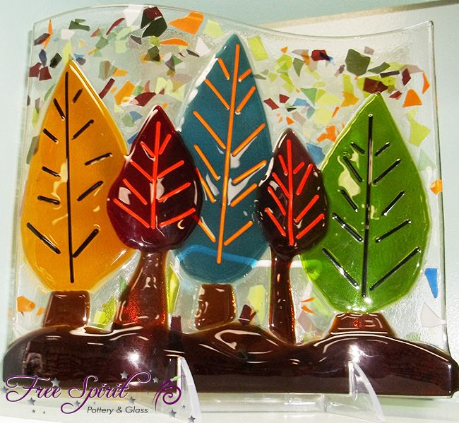 Great and easy Fall project! Glass Fusion from Free Spirit Pottery in Statesboro, GA