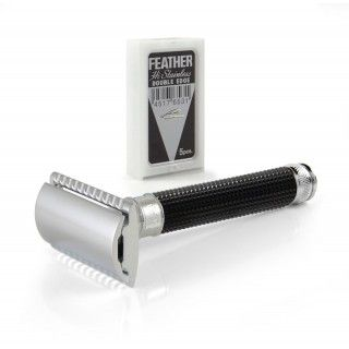 Edwin Jagger Black Chrome 3D Diamond DE Razor