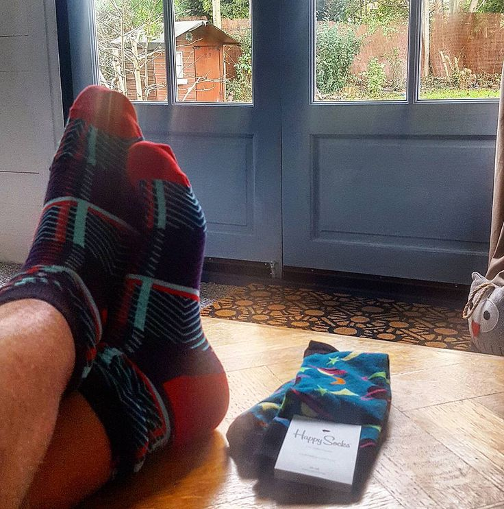 I'm wearing my new @happysocks to celebrate finishing my writing cabin. Check out my Insta story for a start to finish view.  It's amazing what you can do from scratch if you just get on with it :) #dh #happinessEverywhere