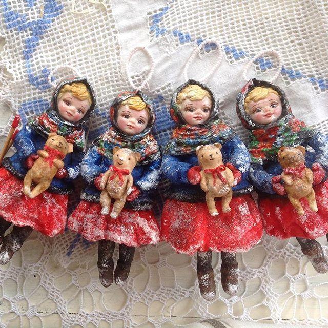 Оленьки)) #игрушкиизваты #ватнаяигрушка #вата #изваты #новыйгод #подарок #назаказ