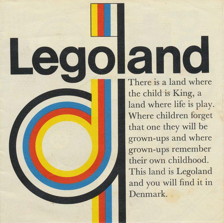 Denmark Legoland brochure from the early 60s