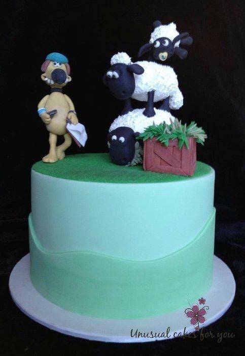 Making A Shaun The Sheep Cake