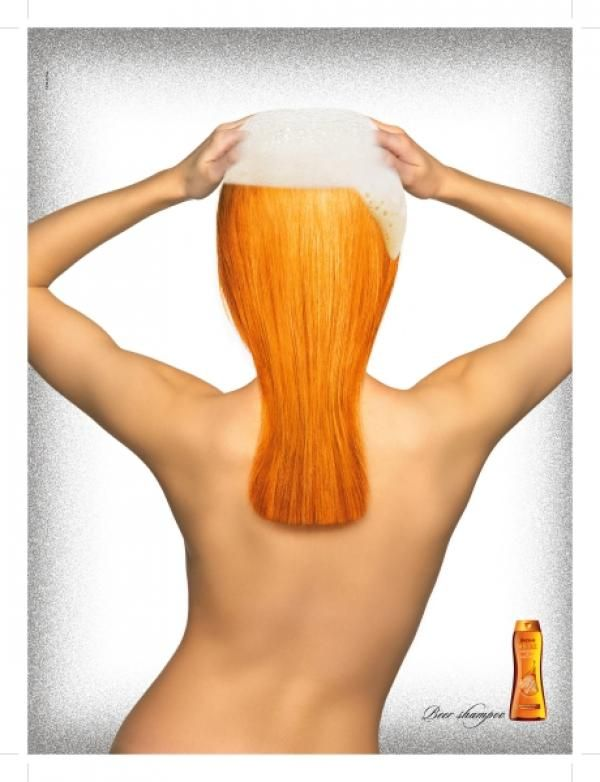 Funny #ads #posters #commercials connected with hair cosmetics. Follow us on www.facebook.com/ApReklama for more. Repinned by www.apreklama.pl https://www.instagram.com/arturjanas/ #ads #marketing #creative #poster #advertising #campaign #reklama #śmieszne #commercial #humor #chair #shampoo #cosmetics #beer