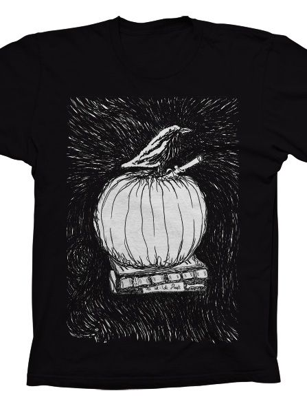 The Raven T-Shirt - Based on Edgar Allan Poe's poem. The shirt features hand drawn illustration by @Sasha Endoh Design  available exclusively at @In Print boutique. http://store.theinprint.com/product/the-raven