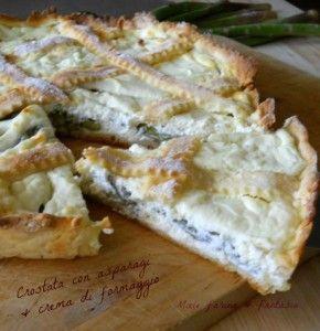 crostata con asparagi e crma di formaggio  di Miele farina & fantasia