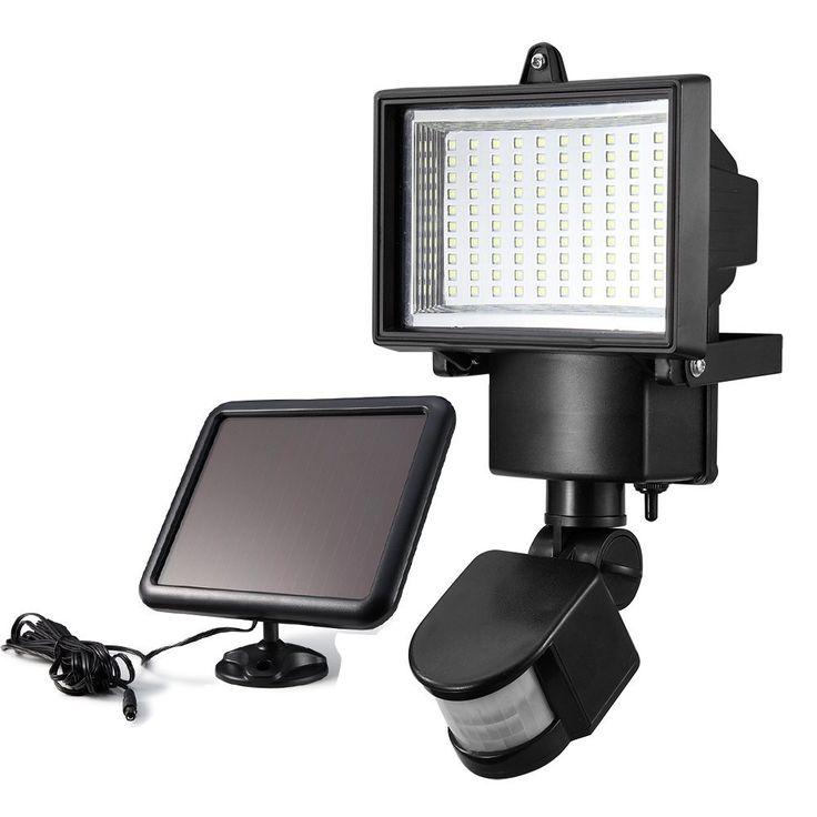 100LED Солнечной энергии Motion Sensor Light with Solar Panel, наружного освещения LED Безопасности прожекторы для сада/гараж/путь