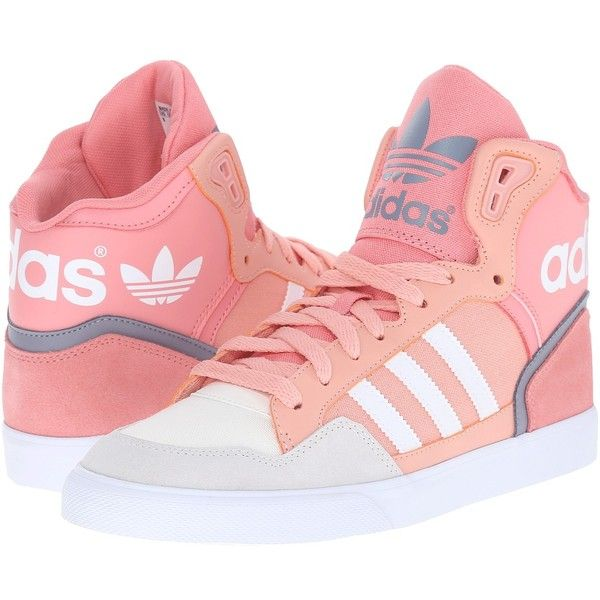 adidas Originals Extaball W Women's Classic Shoes ($70) ❤ liked on Polyvore featuring shoes, high top shoes, breathable shoes, cushioned shoes, bright shoes and adidas originals