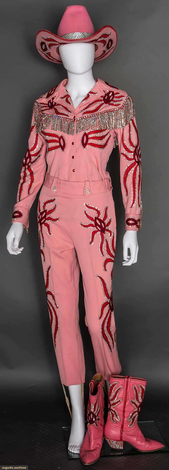 Nudie 4-piece Lady's Pink Rodeo Outfit, 1970, Augusta Auctions, April 8, 2015 NYC