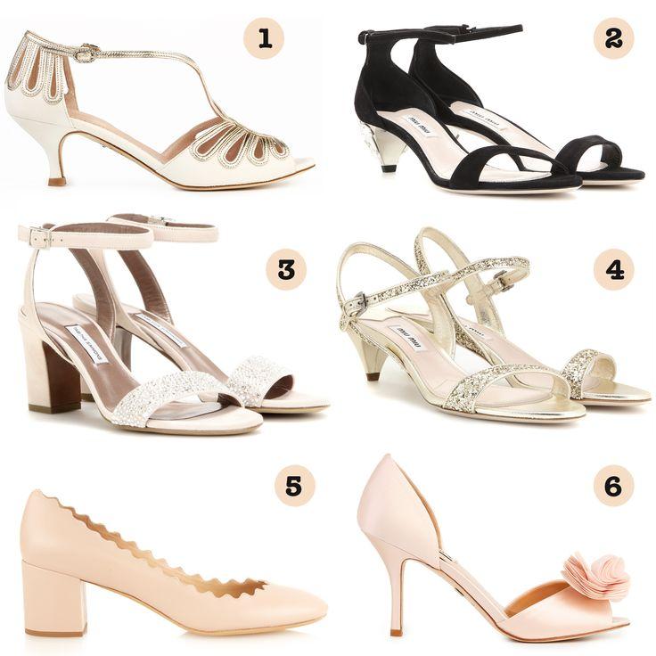 zapato novia tacón medio