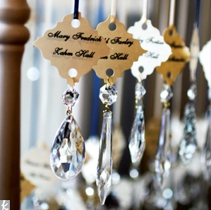 Escort Cards with a little dazzle. #weddings