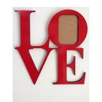 Portaretrato En Mdf Love Para Pared O Escritorio