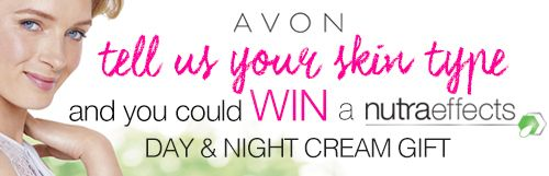 Hey there, I just entered the Avon Nutra Effects competition and thought you might be interested. The prize is a Nutra Effects Day and Night Cream Gift Pack!  To enter, visit - http://www.joinavon.com.au/referfriend/index/5j4owD2B6RHYvWVKz8VE8WoPVH8ujUsb