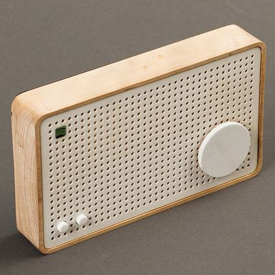 A prototype of a standalone device to listen to Spotify at home, that was the degree project of Jordi Parra, an Interaction Design student at the Ume� Institute of Design. Parra created a device inspired by the work of Dieter Rams for Braun. The functiona