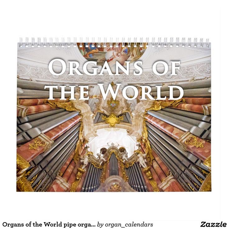 Organs of the World pipe organ calendar