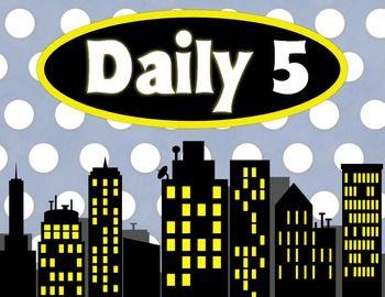 Superhero Daily 5 Rotation Chart