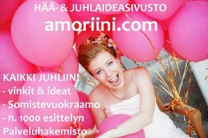 Amoriini.com - SOMISTEVUOKRAAMO / Kutsut koristelu ja kukat / Hääpalvelut - Häät.fi