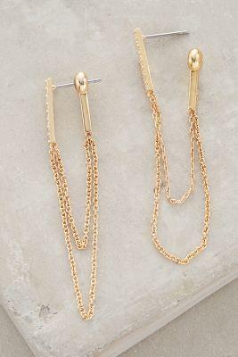 Anthropologie Chainlink Earrings