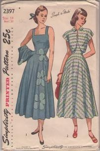 1940s fantastic summer dress with light weight s/s jacket