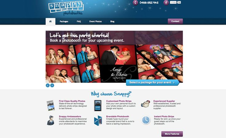 Snappy Photobooths Website and Blog Creative Clarity