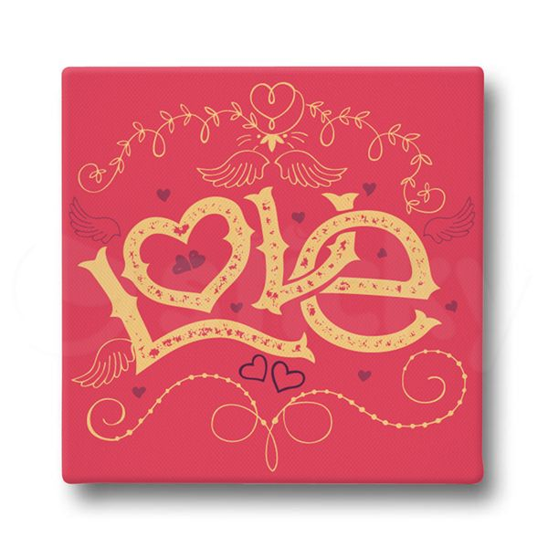 Canvas print LOVE WINGS by Sticky!!!