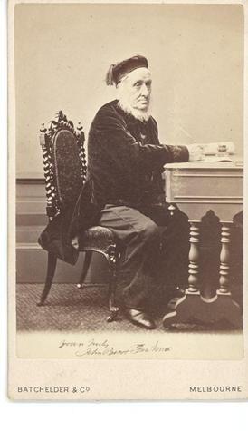 Carte De Visite - John Pascoe Fawkner, circa 1867   He was a teetotaller, yet he opened Melbourne's first hotel.