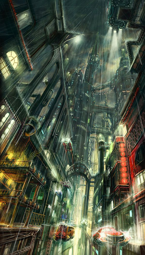 Dark City, Cool Art: Awesome Neo-Noir and Urban Fantasy Cityscapes