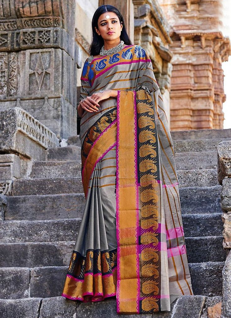This Slate Gray Cotton Saree is accenting the appealing feeling. The ethnic Plain Work at the clothing adds a sign of attractiveness statement with your look. Buy Online Printed Cotton Ethnic Saree, Party Wear, Kitty Party Wear, Festival Wear, Sarees, Shari, Sari, Indian Saris For women. We have large range of Printed Cotton Sarees Online in our website with the best pricing and unique designs shipping to (UK, USA, India, Germany, Canada, Singapore, Australia, Mauritius, New Zealand) world…