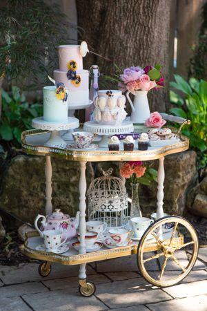 first tea party tea cart