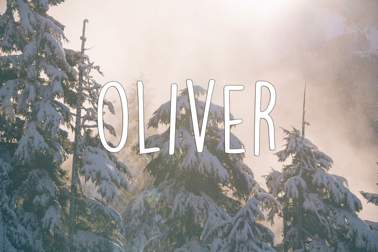 I'm thinking Oliver as a possible middle name