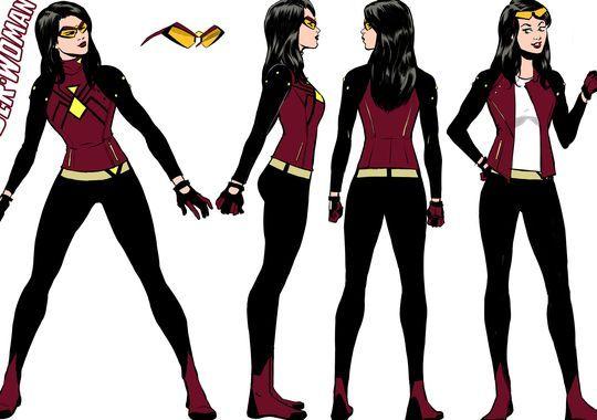 Spider-Woman's costume walks the line between superhero-ready