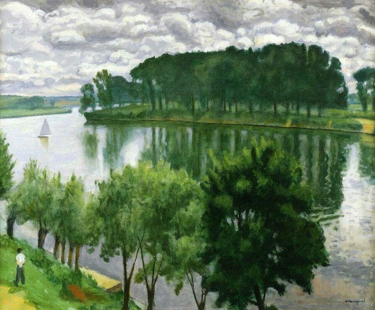 La Seine At La Frette - Albert Marquet