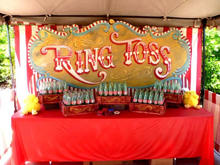 Coke Bottle Ring Toss Carnival Game